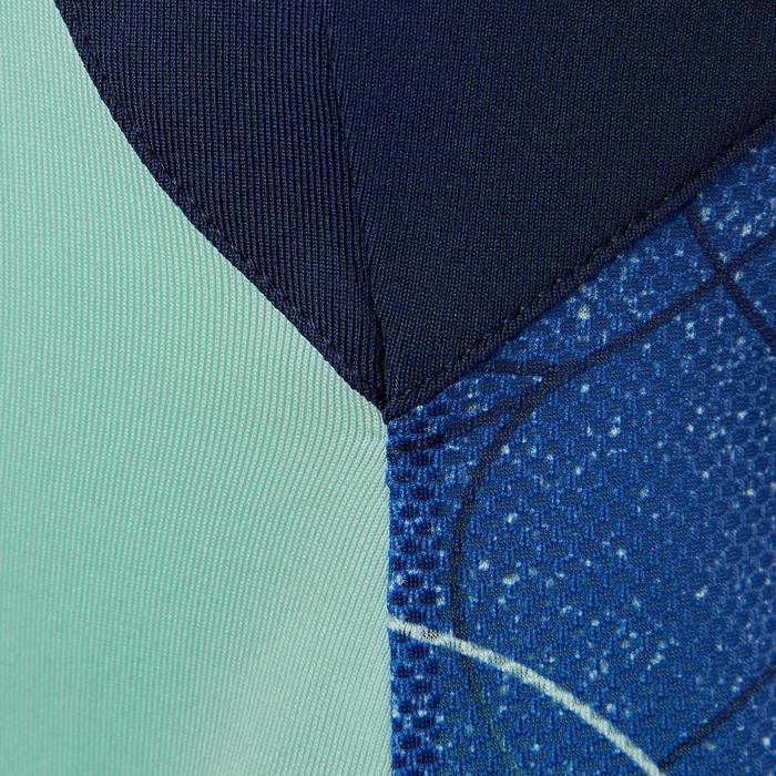 Ademende top S900 meisjes GYM KINDEREN blauw AOP