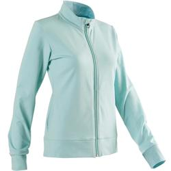 Trainingsjacke 100 Pilates sanfte Gymnastik Damen hellblau