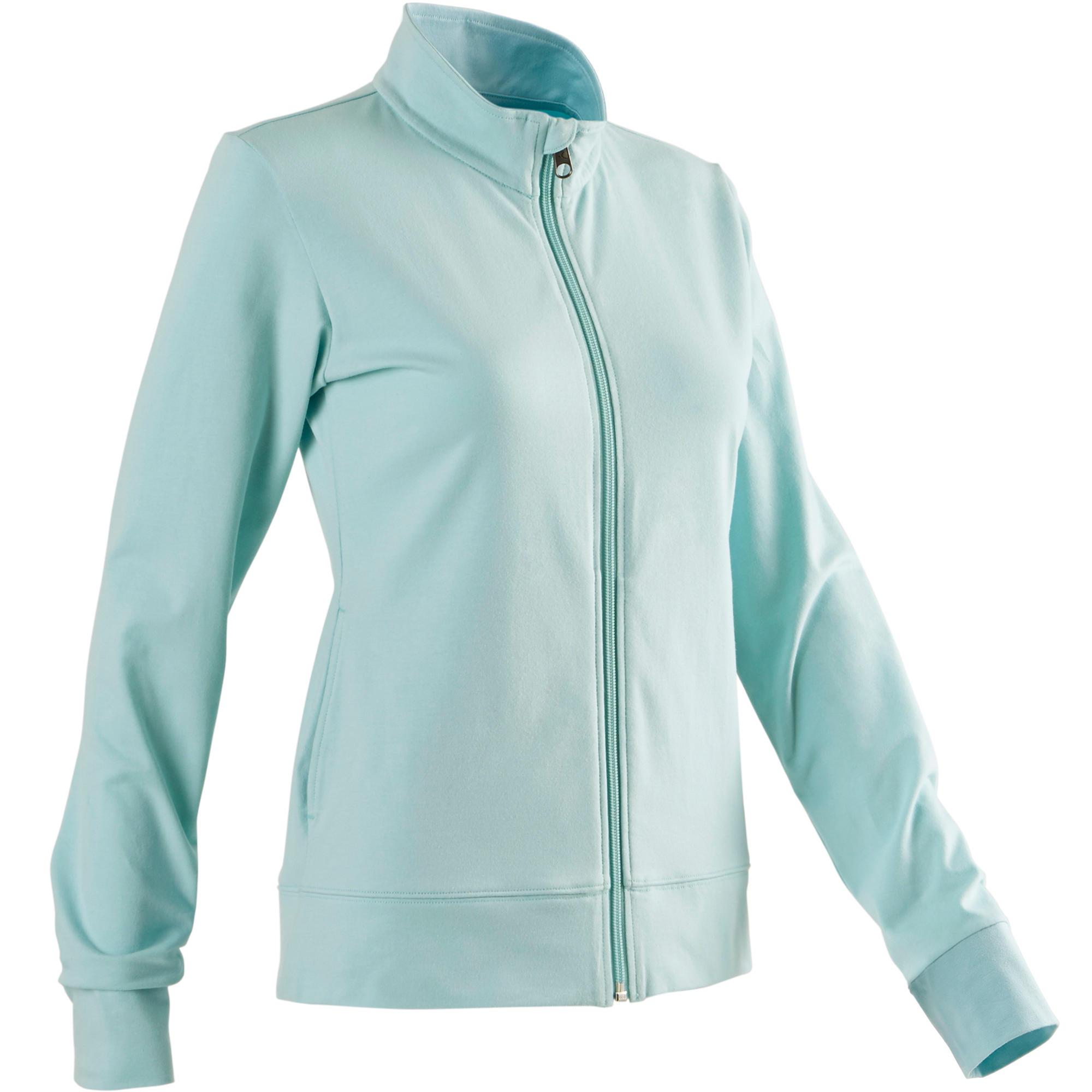 Domyos Vest 100 voor pilates en lichte gym dames lichtblauw