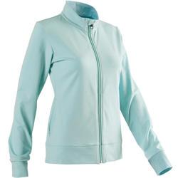 Vest 100 voor pilates en lichte gym dames lichtblauw