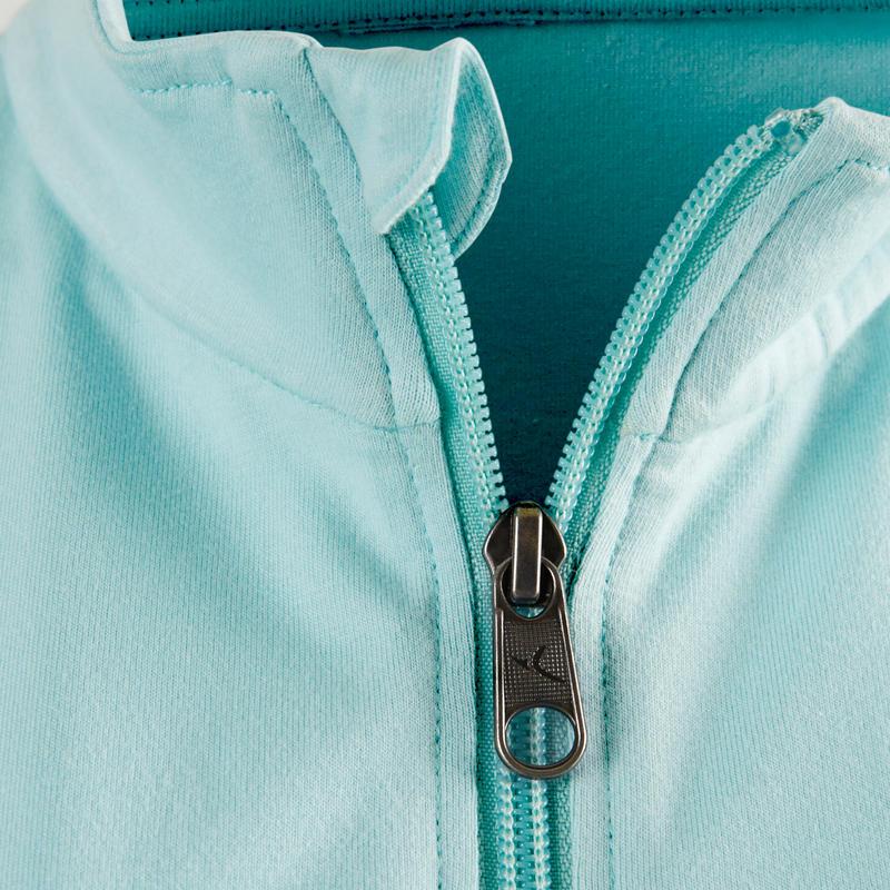 100 Women's Pilates & Gentle Gym Jacket - Light Blue