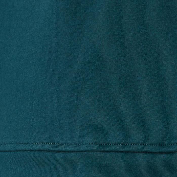Kapuzenjacke 100 Pilates sanfte Gymnastik Damen petrolblau