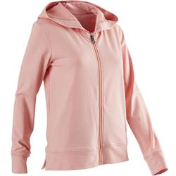 100 Women's Pilates & Gentle Gym Hooded Jacket - Pink
