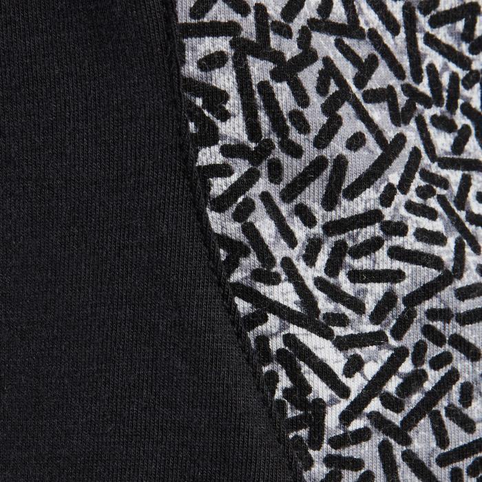 T-shirt 520 pilates en lichte gym dames zwart