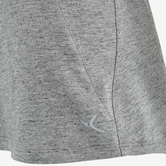 T-shirt 520 pilates en lichte gym dames gemêleerd grijs