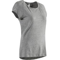 T-Shirt 520 Gym & Pilates Damen grau meliert