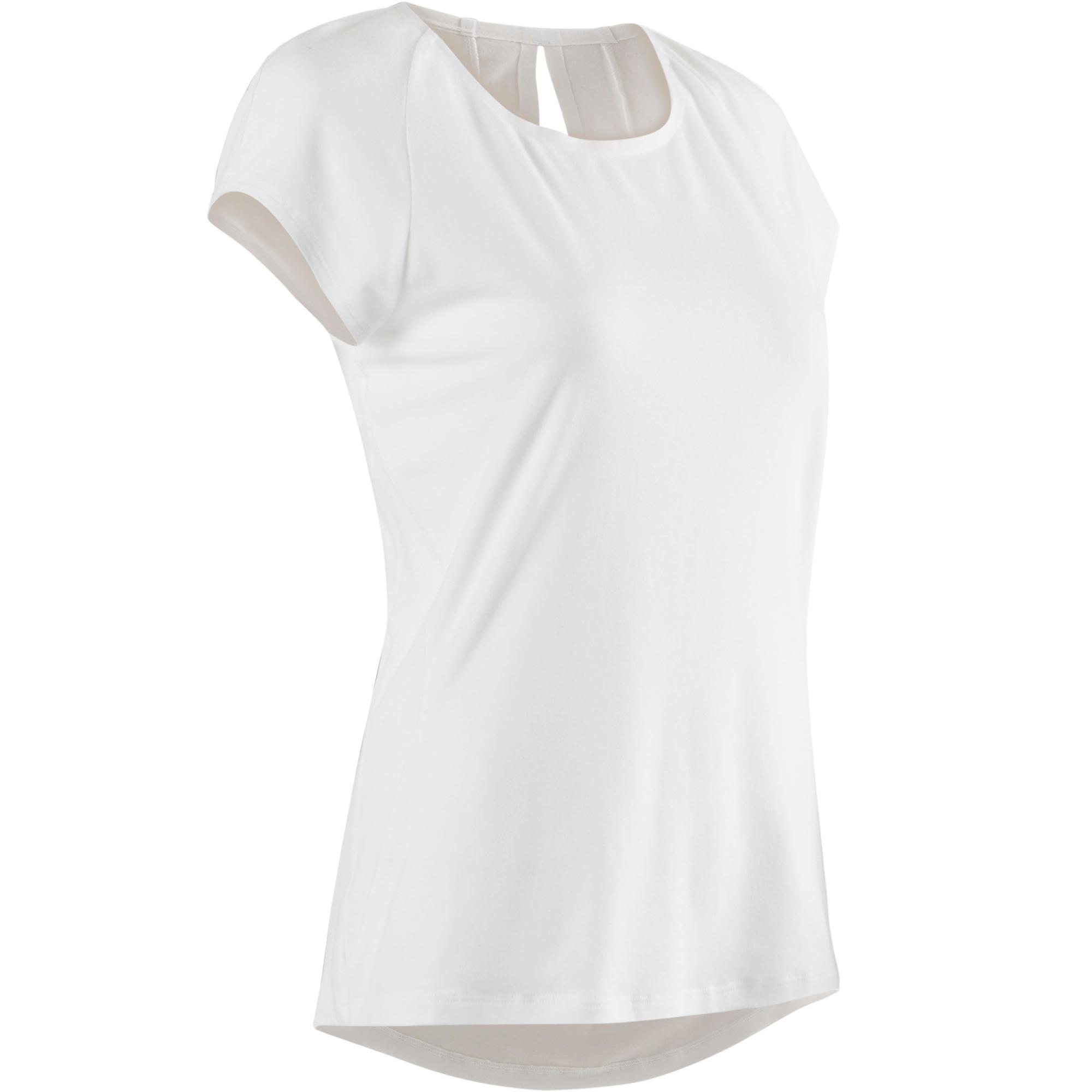 Domyos T-shirt 520 pilates en lichte gym dames wit