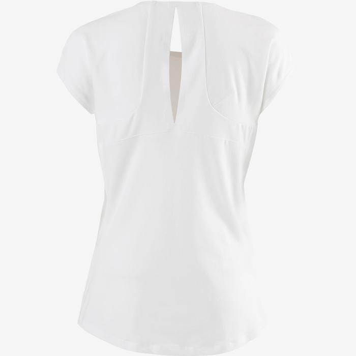 T-shirt 520 pilates en lichte gym dames wit