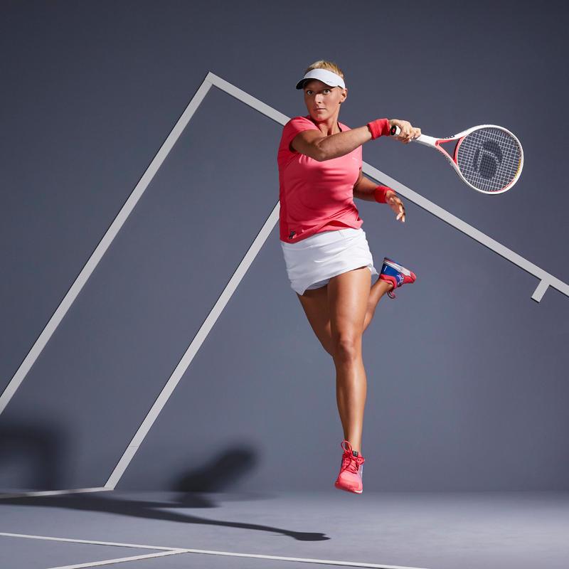 เสื้อยืดใส่เล่นเทนนิสสำหรับผู้หญิงรุ่น Soft 500 (สีชมพู)