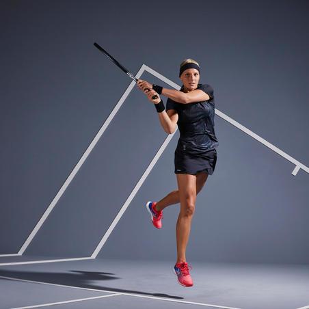 TS Soft 500 T-Shirt Tenis Wanita - Hitam