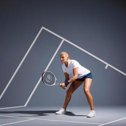 Poloshirt Essentiel 100 Tennispolo Damen weiß