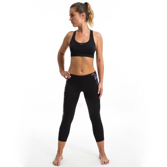 Aquafitness-Leggings Damen schwarz