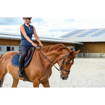 Zadelonderlegger 500 schuim ruitersport paard en pony bruin