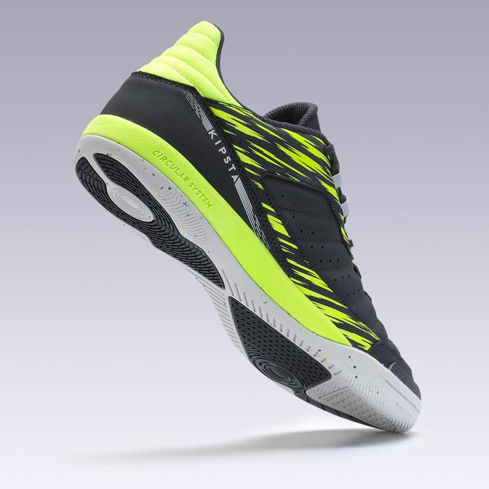 Zaalvoetbalschoenen Eskudo 500 grijs geel