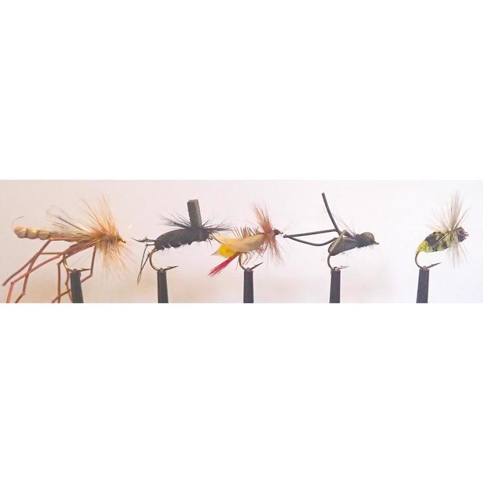 Set van 5 landvliegjes voor vliegvissen