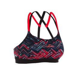 Black Red Women's Meg Ron Aquafitness Swimsuit Top