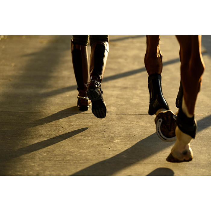 Leren laarzen 900 Jump S ruitersport volwassene bruin