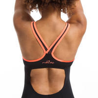 Women's One-Piece Aquafitness Shorty Swimsuit Lou Black orange
