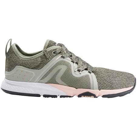 PW 540 Flex-H+ Women's Fitness Walking Shoes - Khaki/Pink