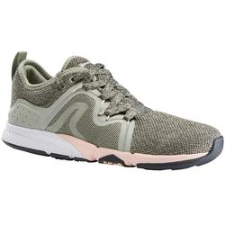 PW 540 Comfort Women's Fitness Walking Shoes - Khaki/Pink