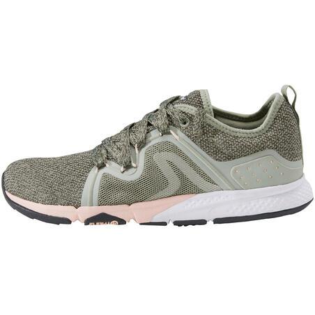PW 540 Women's Fitness Walking Shoes - Khaki/Pink