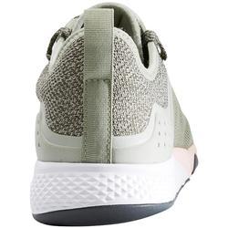 Damessneakers voor sportief wandelen PW 540 kaki / roze