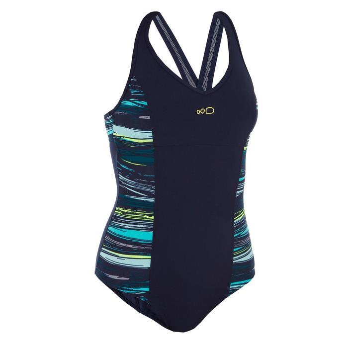 Damesbadpak voor aquagym Lou Stri blauw