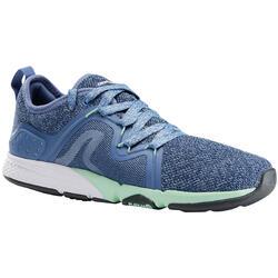 Damessneakers voor sportief wandelen PW 540 Comfort blauw