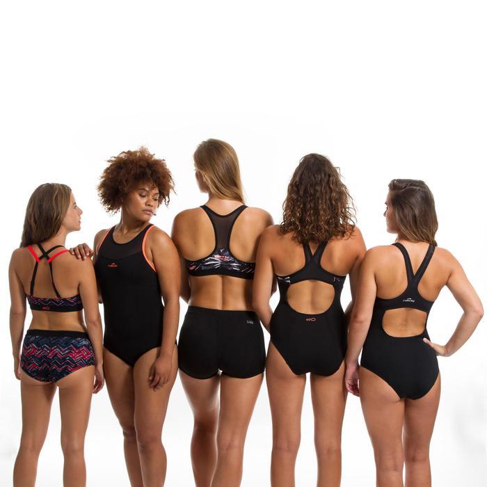 Bikinibroekje voor aquafitnes dames Meg Ron zwart/rood