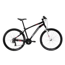 "MTB Rockrider ST100 27.5"" B'TWIN 3x7-speed mountainbike Zwart/rood/Wit"