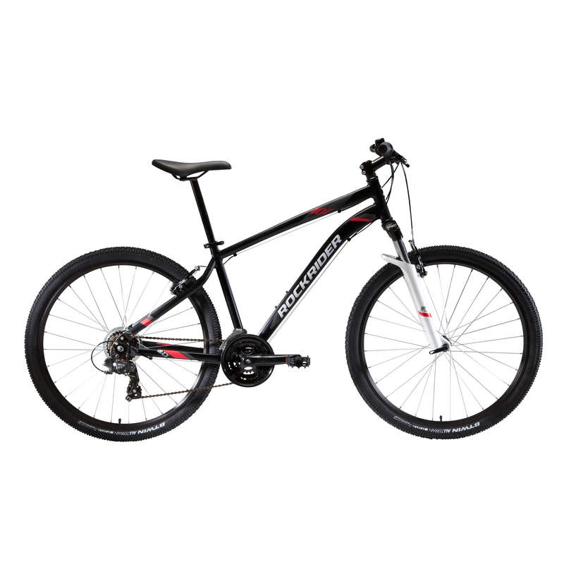 MEN INTERMED/ADVDSPORT TRAIL MTB BIKE Cycling - ST 100 Mountain Bike, Black - 27.5