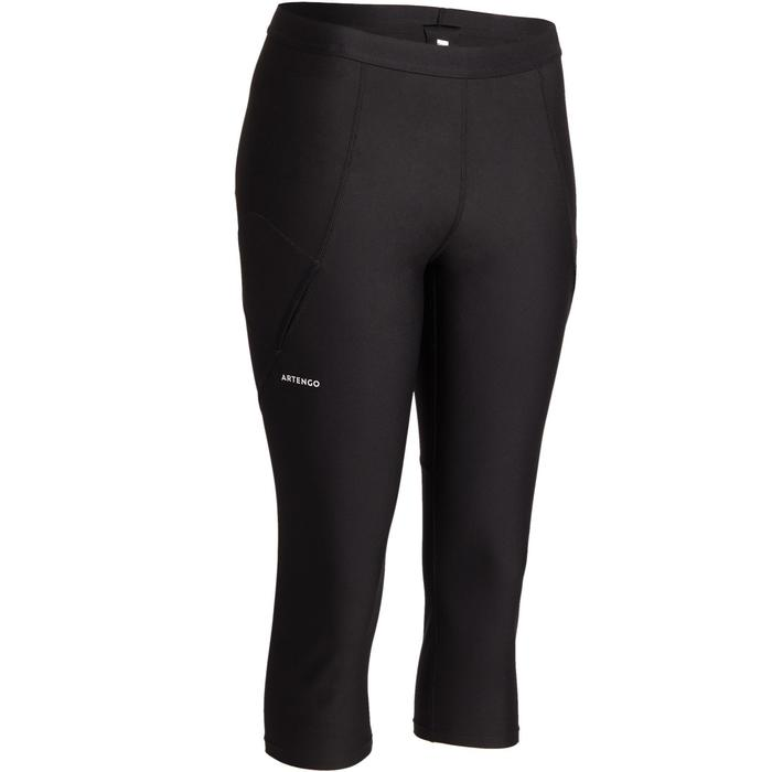 Tennishose 3/4-Leggings 900 Damen schwarz