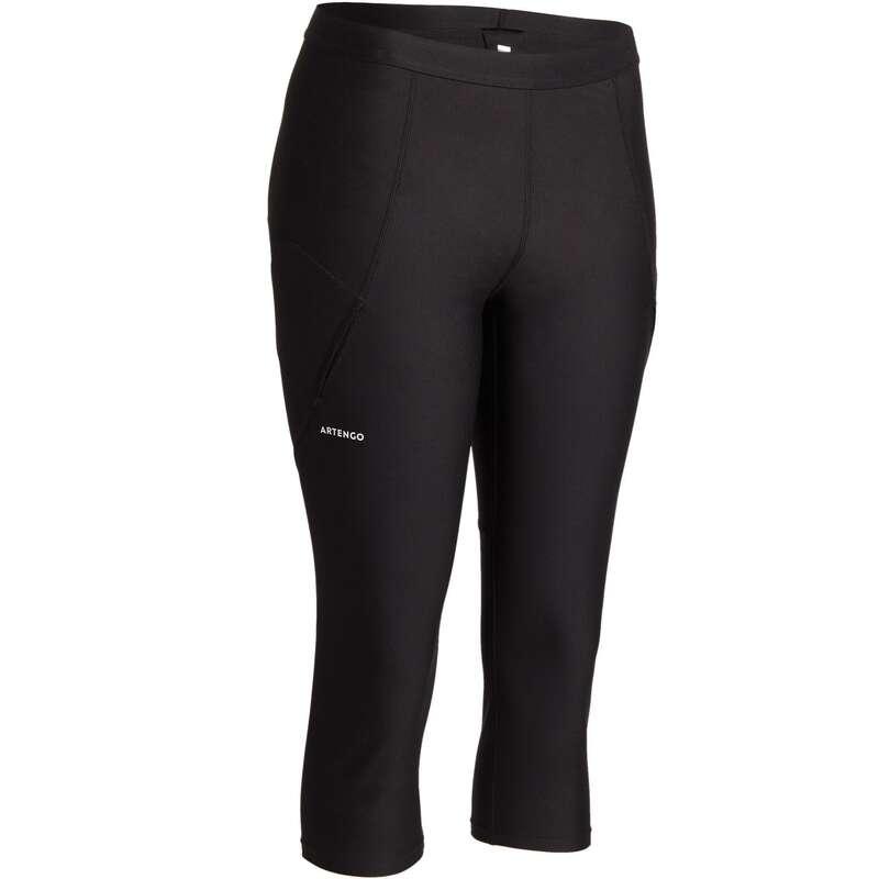 WOMEN WARM CONDITION RACKET SP APAREL - 900 Cropped Bottoms - Black ARTENGO