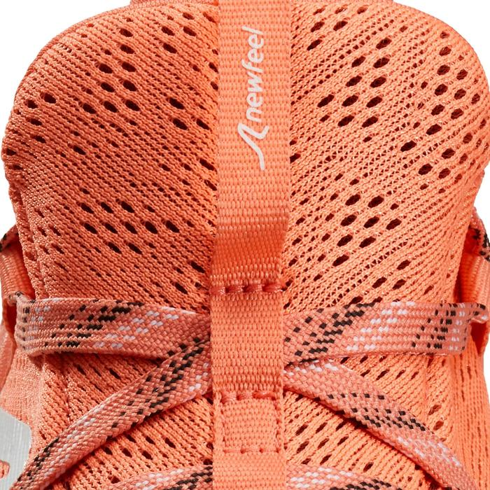 Chaussures marche sportive femme PW 140 corail