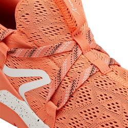 Zapatillas marcha deportiva mujer PW 140 rojo coral