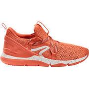 Tenis de caminata deportiva para mujer PW 140 rojo coral