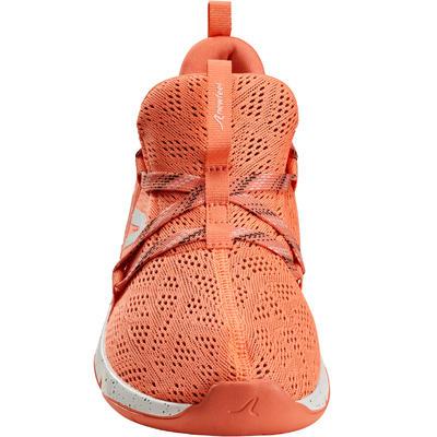 حذاء PW 140 للمشي للحصول على اللياقة للسيدات، لون برتقالي.