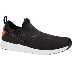 Zapatillas de marcha deportiva para hombre PW 160 Slip On negro/naranja