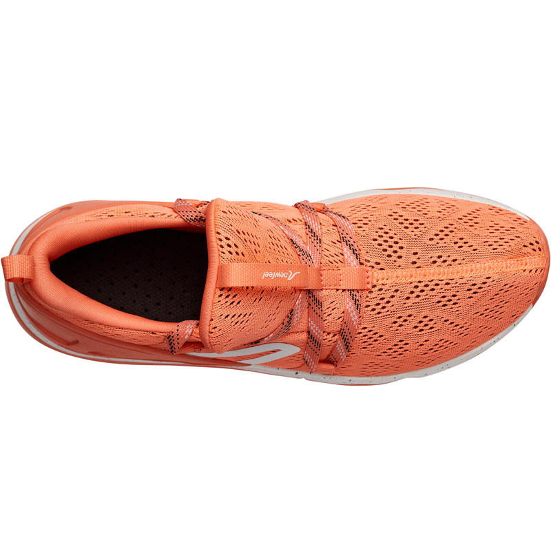 PW 140 women's fitness walking shoes coral
