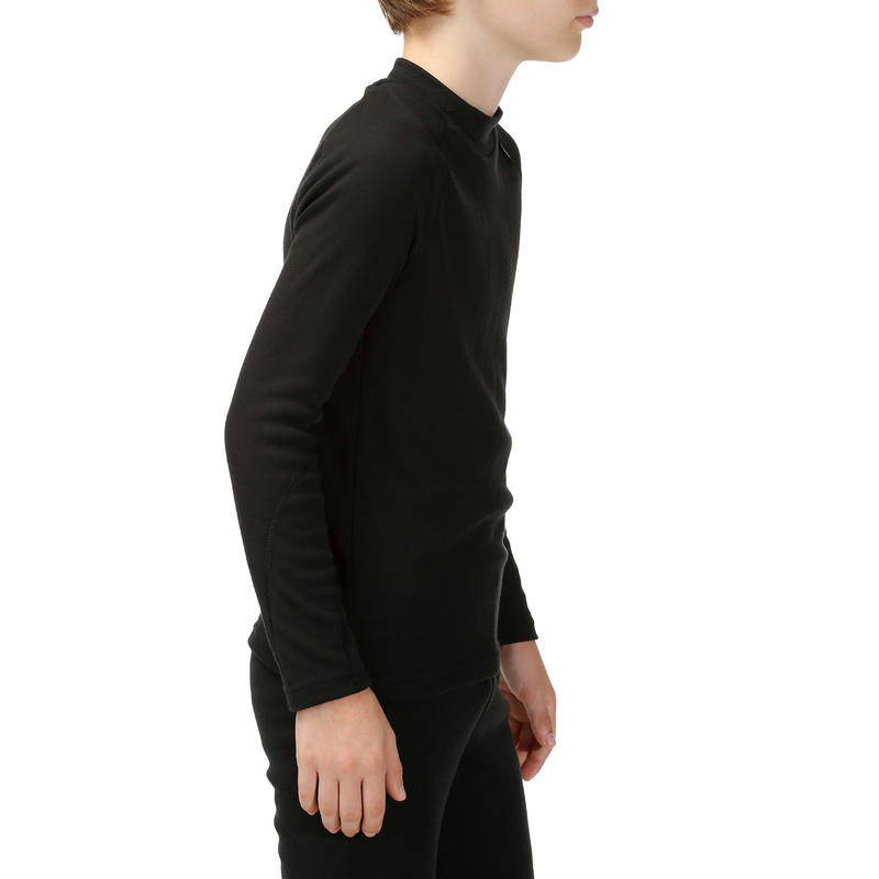 CAMISETA INTERIOR SKI NIÑOS SIMPLE WARM NEGRO