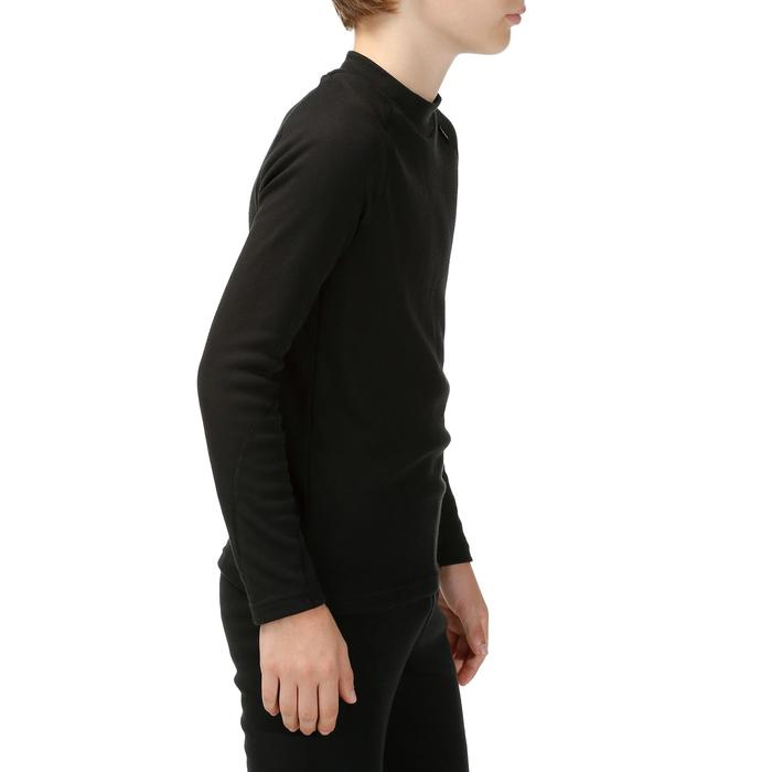 兒童滑雪底層上衣100 - 黑色