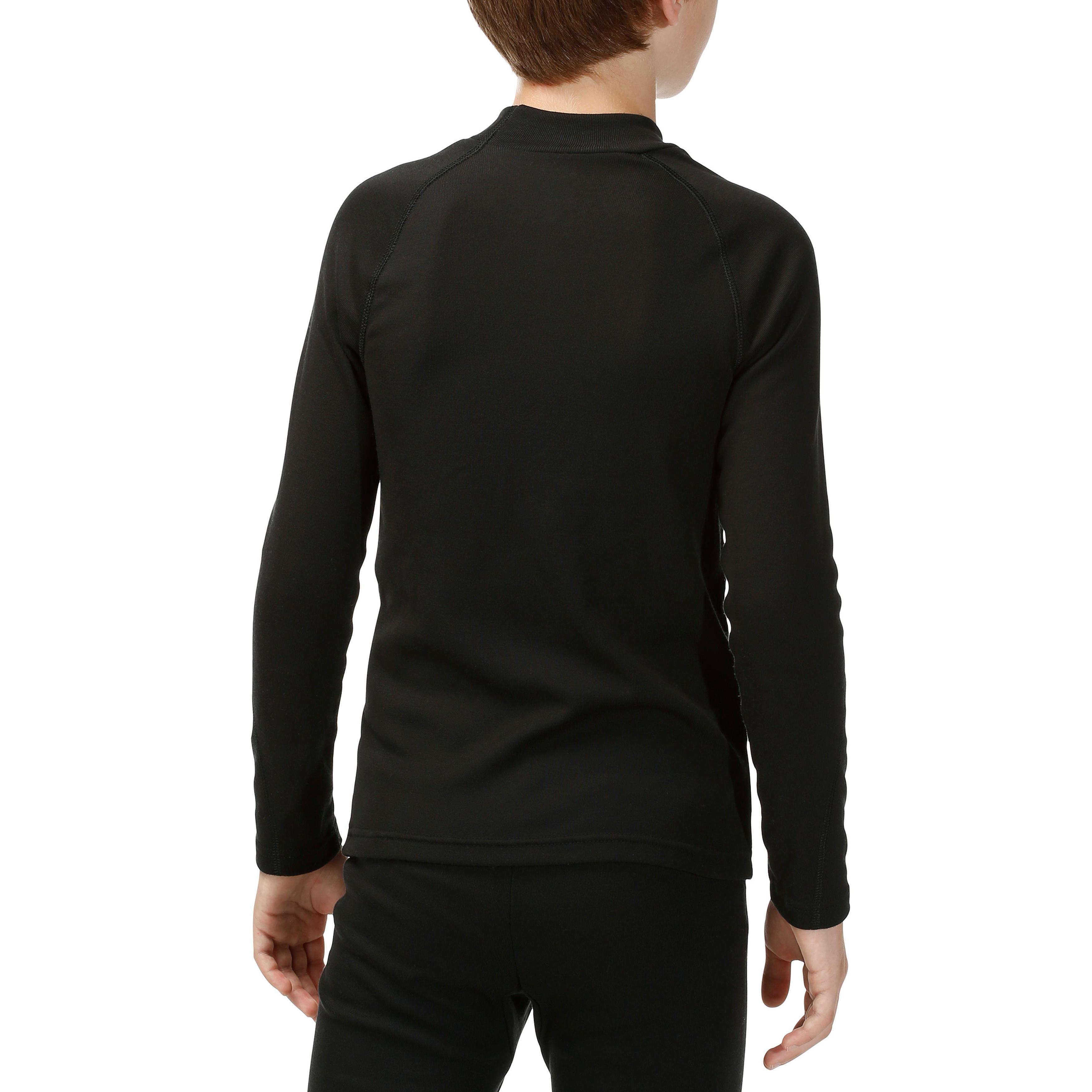 100 Children's Ski Underwear Top - Black