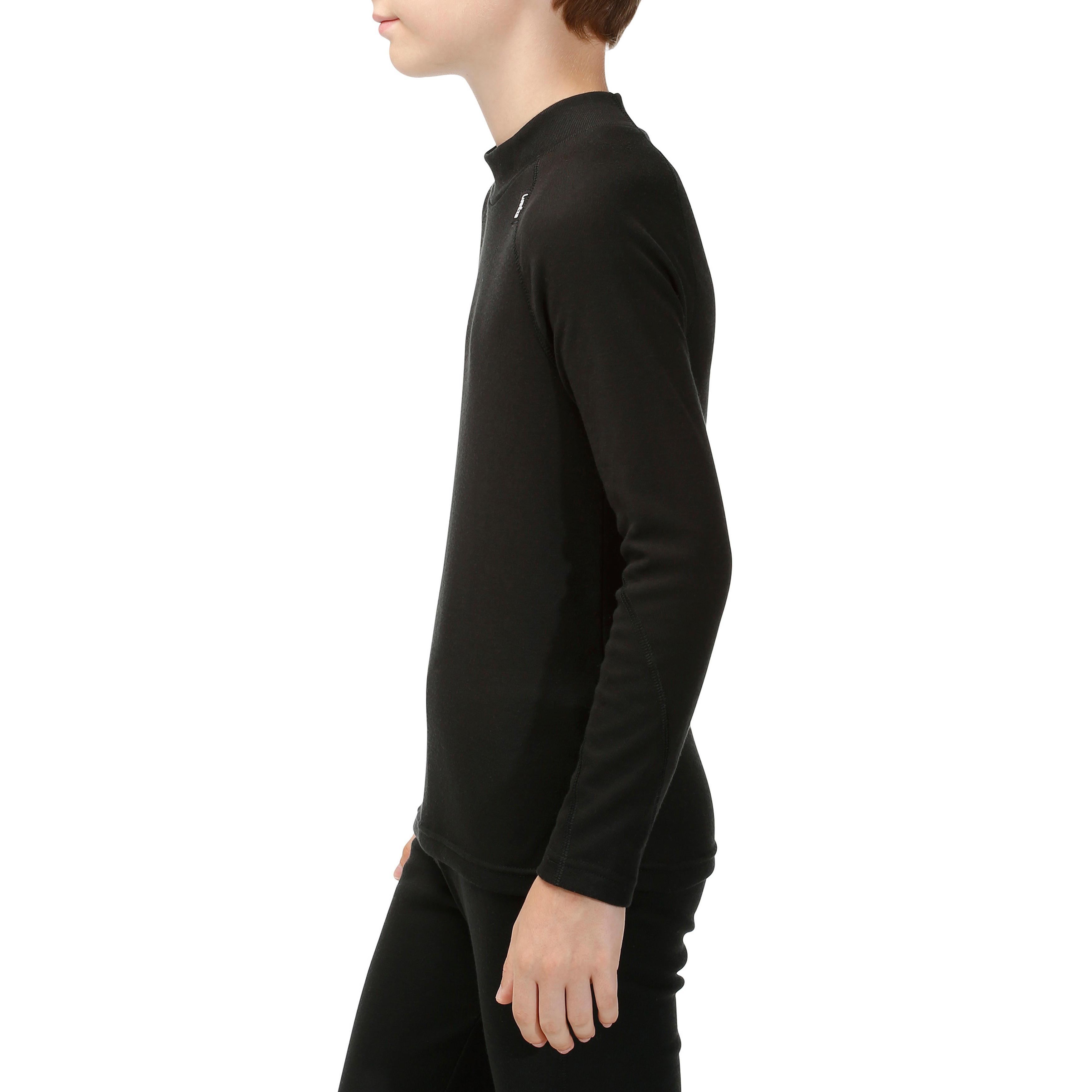Sous-vêtement haut de ski enfant 100 Noir