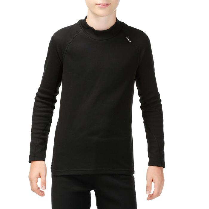 100 Children's Ski Underwear Top - Black