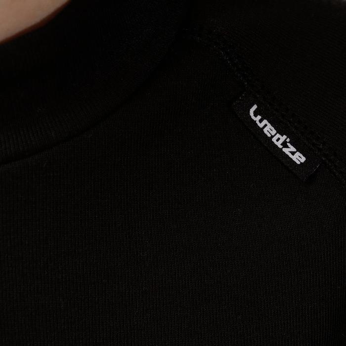 Thermoshirt voor skiën kinderen 100 zwart