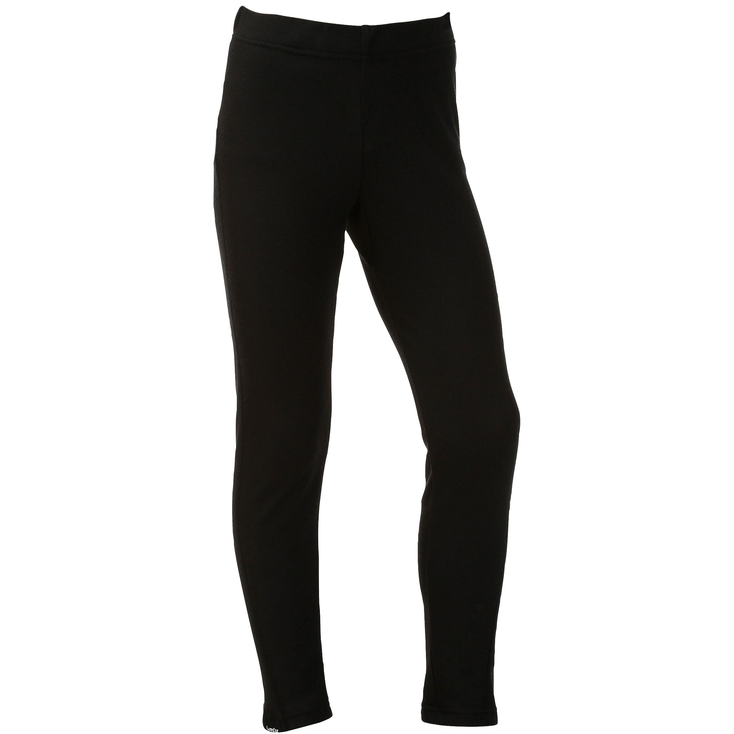 100 Kids' Skiing Base-Layer Bottoms - Black