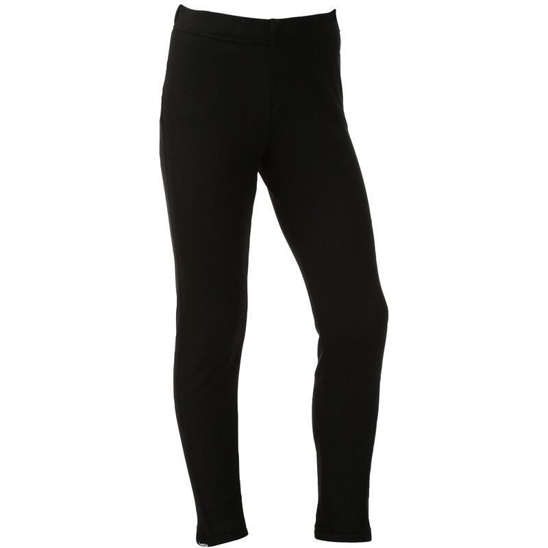 兒童滑雪底層長褲100 - 黑色