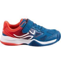 兒童款網球鞋TS560-藍色/紅色