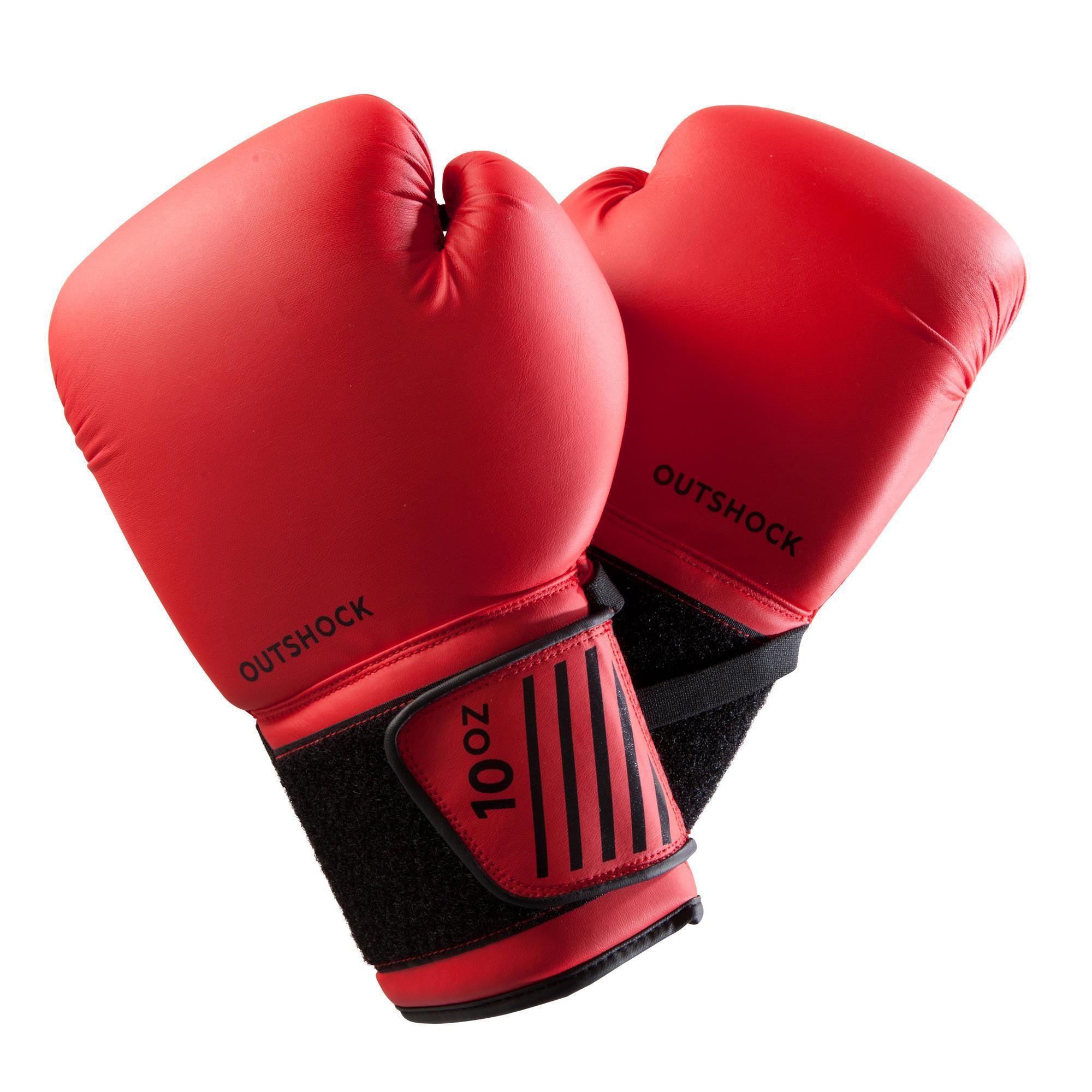 Boxhandschuhe 100 rot Einsteiger | Accessoires > Handschuhe > Sonstige Handschuhe | Outshock