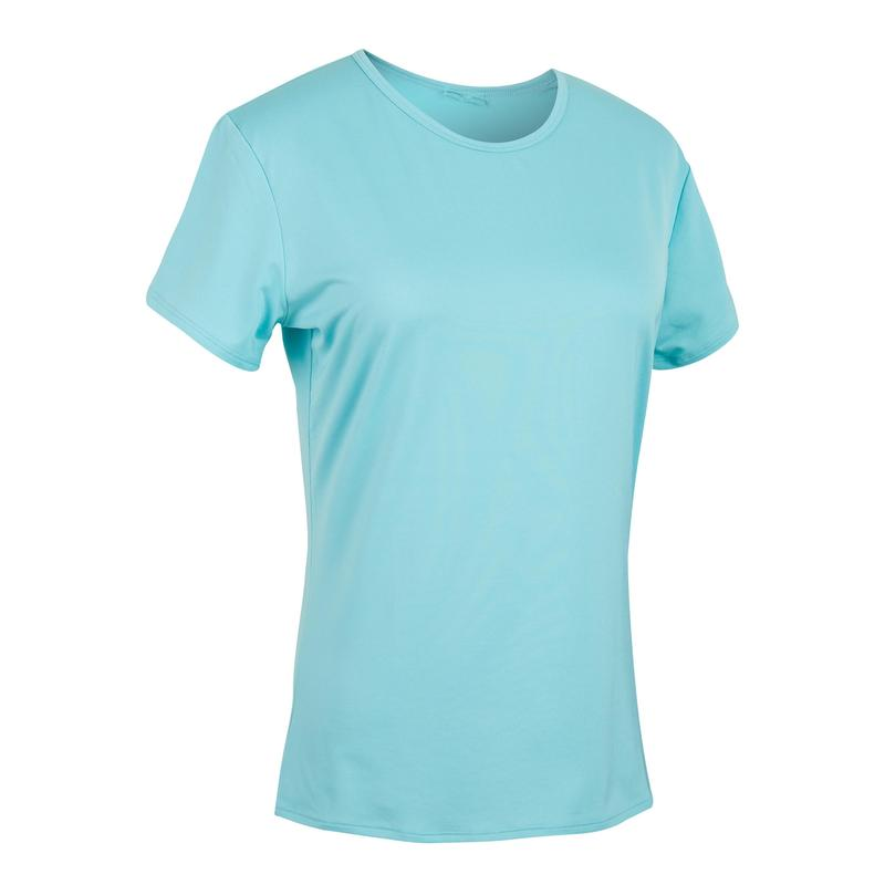 100 Women's Fitness Cardio Training T-Shirt - Blue
